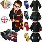 Harry Potter Cosplay Gryffindor/Slytherin Robe &Tie Set Costume Cape Cloak New