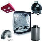 """800W LED Grow Light+Grow Tent+6"""" Inline Fan Carbon Air Filter Ducting Combo"""