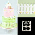 5PCS Cutter Picket Fence Cake Icing Fondant Cutting Tool House Garden Decoration
