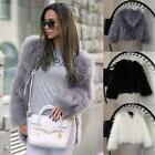 Genuine Fluffy Real Ostrich Feather Good Vest Real Gilet Fur Women Coat Collar