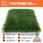 40mm Wiltshire Artificial Grass Fake Lawn Turf - EU Made - Supersoft Yarn