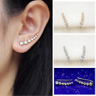 SUP New Womens Rhinestone Gold Silver Plated Crystal Earrings Ear Hook Stud Top