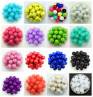 6/8/10/16/20/25mm Acrylic Round Pearl Spacer Loose Beads Diy Jewelry Making #ca