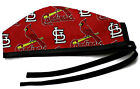Men's Unlined Surgical Scrub Hat  in St Louis Cardinals Allover