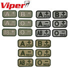 Viper Tactical Blood Type Rubber Velcro Backed Patches 5 x 2.5cm Army Military
