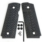 Coolhand 1911 Compact Officer Size G10 Grips Mag Release Cut OPS Texture H2-J1Pistol - 73944