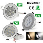 3W/5W/7W CERR Dimmable LED Ceiling Down Light Cabinet Recessed Fixture Spot Lamp