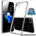 Slim Rubber Solid Clear TPU Gel Jelly Case Cover for Apple iPhone 7/7 PLUS+Film