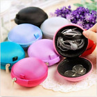 2 IN 1 Portable Earphone Earbuds Hard Carrying Case +Changes Storage Bag Holder