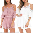 Womens One-piece Strappy Jumpsuit Playsuit Short Pants Party Backless Romper