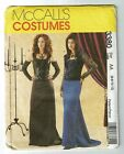 McCalls #3380 Gothic Dress and Gloves Adult Costume Pattern Sz 6-12/ 14-20 UC
