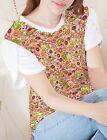 Mushrooms Poppies Paisley Women Petal Sleeve Side Vent T-shirt b119 acq02626