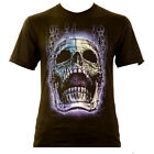 Pinhead nailed Death - Rock Eagle T-Shirt Glow in the Dark Totenschädel Skull
