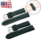 20mm ~ 24mm Silicone Watch Band Wrist Rubber Mens Strap Sport Waterproof Diver