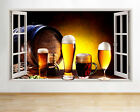 Wall Stickers Alcohol Drink Beer Glass Pint Window Decal 3D Art Vinyl Room C115