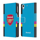 OFFICIAL ARSENAL FC 2016/17 CREST KIT LEATHER BOOK WALLET CASE FOR HTC PHONES 2