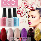 CCO UV LED NAIL GEL POLISH VARNISH SOAK OFF TOP BASE COAT GLITTER COLOUR