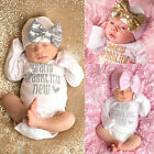 us-stock-sequins-newborn-baby-girls-bodysuit-romper-jumpsuit-hat-outfit-clothes