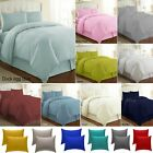 Plain Dyed Duvet Cover Polycotton Bedding Set + Pillow Case, Single, Double,King