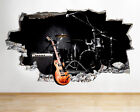 Wall Stickers Guitar Cool Band Music Studio Smashed Decal 3d Art Vinyl Room C585