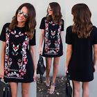 Fashion Womens Short Sleeve T Shirt Dress Casual Blouse Ladies Skirt Loose Tops