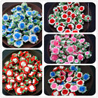 7x12MM DIY Jewelry Accessories Soft Rose Flowers Polymer Clay Beads 35pcs
