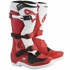 Alpinestars Tech 3 CE Certified Motocross / MX / Motorcycle Boots In Red / White