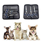 Pet Dog Cat Grooming Scissors Shears Set Kit w.Comb Cut Straight Curved Thinning