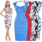 Vintage 50s 60s Wiggle Midi Housewife Pageant Formal Party Casual Pencil Dress