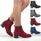 Womens Chelsea Ankle Boots Elasticated Ladies Dealer Winter Casual Booties Size
