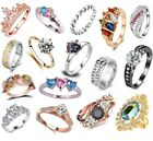 Ladies Rings Dress Fashion Vintage Cluster Women Wedding Band Thumb Lady Ring Uk