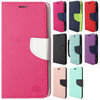 For LG X Charge Premium Leather 2 Tone Wallet Case Pouch Flip Phone Cover