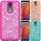 For LG Harmony M257 SHINE Hybrid Hard Case Rubber Phone Cover Accessory