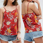Summer Womens Casual Vest Tops Tank Strap Loose Blouse Sleeveless T-shirt Red