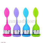 Hot Silicone Stainless Steel Leaf Tea Strainer Teaspoon Infuser Ball Filter