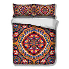 India Paisley Mandala Duvet Cover Pillow Cases Quilt Cover Bedding Set All Sizes