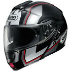 Shoei Neotec Imminent TC5 Silver Red Flip Front With Sunvisor Motorcycle Helmet