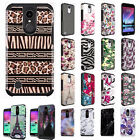 For LG Grace LTE L59BL HARD Hybrid Rubber Silicone Case Phone Cover Accessory