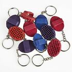 Mini rubber curry comb Keyring ( keyring pony gift stocking filler lilliput )