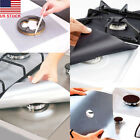 4 pcs Reusable Gas Range Liner Cover Stove top Burner Protector Mat Non Stick