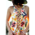 Sexy Women Plus Size One Piece Monokini Swimwear Bathing Padded Bikini Swimsuit