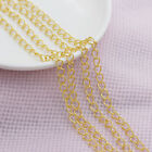 Gold-silver plated Cable open link Iron Tail extend chain findings jewelry DIY