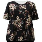 A Personal Touch Women's Plus Size Coral Wildflowers Top