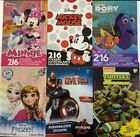Sticker Pad 200+pc Minnie Mickey Cars Avengers Marvel Frozen Dory TMNT Tink New