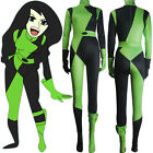 Kim Possible Shego costume jumpsuit supervillain outfit halloween anime costume