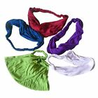 FAIR TRADE VISCOSE ELASTICATED HAIR BANDANA BANDS HEADBAND ACCESORIES 5 PACK