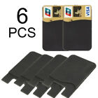 6X Silicone Credit Card Cash Pouch Adhesive Back Cover Holder Case Cell Phone