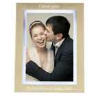 Personalised Gold and Silver Brushed 5x7 Photo Frame Weddings Anniversary Birth