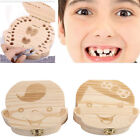 Girl Boy Baby Teeth Box Wooden Tooth Album Keepsake Souvenir Box Organizer Gift