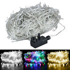 LED FAIRY STRING LIGHTS WEDDING XMAS PARTY WIRE LIGHT UK PLUG OUTDOOR DECOR LAMP